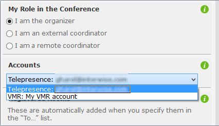 Telepresence conference features 7. Click Send.
