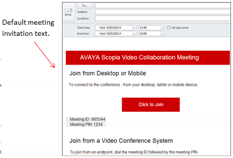 Scheduling a Videoconference Using the Scopia Add-in for Microsoft Outlook Scheduling a Videoconference Without Reserving Resources About this task This procedure describes how to schedule a