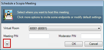 Scheduling a Videoconference Using the Scopia Add-in for Microsoft Outlook Figure 12: Modifying the meeting type 6.