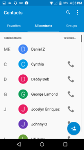 Contacts Enter: Click on the applications menu and select contacts. The default display is the phone contacts and SIM card contacts. The contacts are organized alphabetically by default.