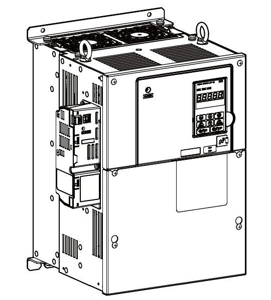 7. Use a Phillips screwdriver (M4) and the screws included in the option package to fasten the option to the drive in the three locations shown in Figure 17.