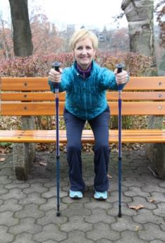 6 Urban Poling STRENGTH EXERCISES* Take time during or at the end of your poling workout to include 3 or 4 strength exercises. Perform each exercise for 30-60 seconds moving at a comfortable pace.