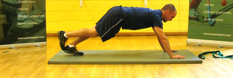 Hip Flexors Gastrocnemius Lunge forward on a padded mat. Have the knee of the back leg on the floor and place a stretch strap around your foot.