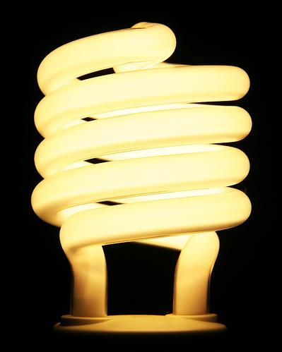 Typical energy efficient light bulb Compared to filament light