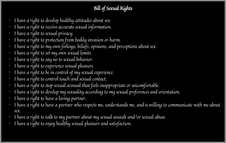 Avoid exposure to people and things that reinforce the sexual abuse mind set. Avoid any media (TV programs, books, magazines, websites, etc.) that portray sex as sexual abuse.
