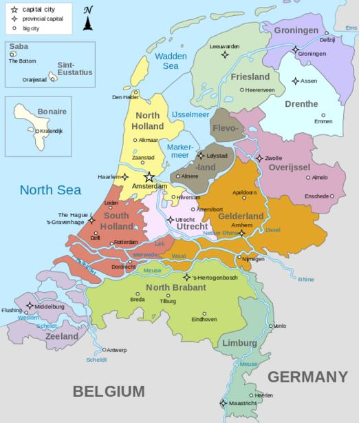 Often called Holland, because of the role the two western provinces North and South Holland played in its