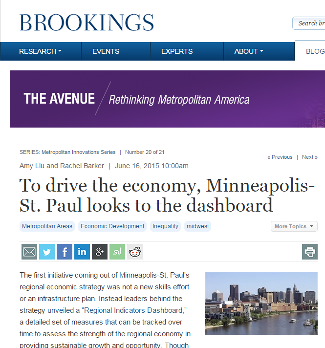 Many cities struggle with regional coordination. Leaders in greater Minneapolis-St.