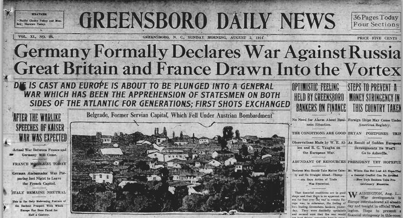 Assassination Brings War On July 28, 1914, the Austro-Hungarian government declared war on Serbia. Russia mobilized its troops.