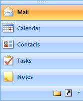 Mail contains the Favorite Folders pane and All Mail Folders section. Calendar contains the date navigator and a section listing other Calendar folders.
