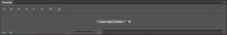 The timeline In order to create animations, you need the