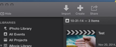 Green Screen with imovie To start, open imovie using the icon in the dock.