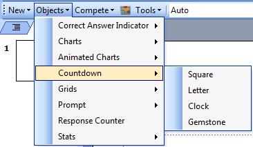 TurningPoint PowerPoint Polling for PC 66 3 Select a different chart from the Objects menu to change the current chart on the slide.