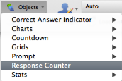 TurningPoint PowerPoint Polling for PC 71 Office 2003 Office 2011 A placeholder is inserted for the response counter. 3 To remove the response counter, simply delete the object from the slide.