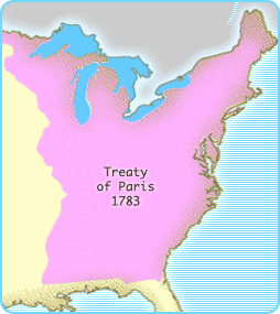 The United States after achieving independence from Britain, 1783 Although British hopes of winning the Revolutionary War ended in 1781 with their defeat at Yorktown, nearly two years passed before