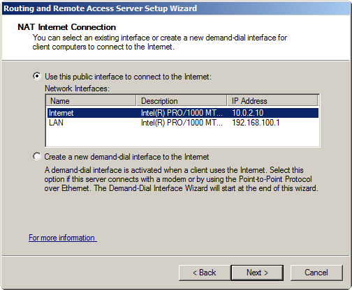 10. On the Completing The Routing And Remote Access Server Setup Wizard page, click Finish. 11. Click OK when prompted.