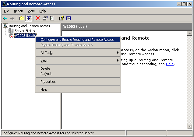 2. On the Welcome To The Routing And Remote Access Server Setup Wizard page, click Next. 3.
