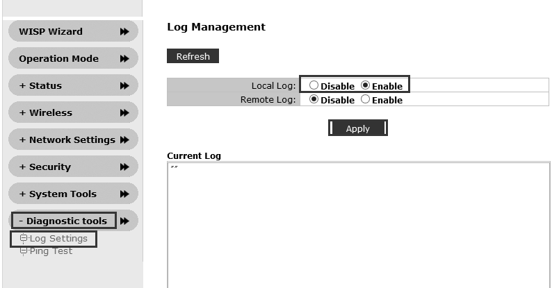 7. System Tools Click System Tools to go to system management menu, as shown in below image. Password Settings: To set system administrator and password here.