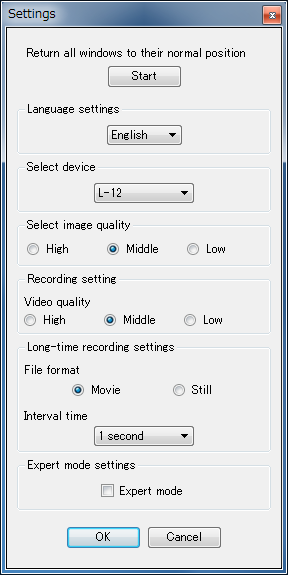 Settings Window Image Mate can be configured with various settings.