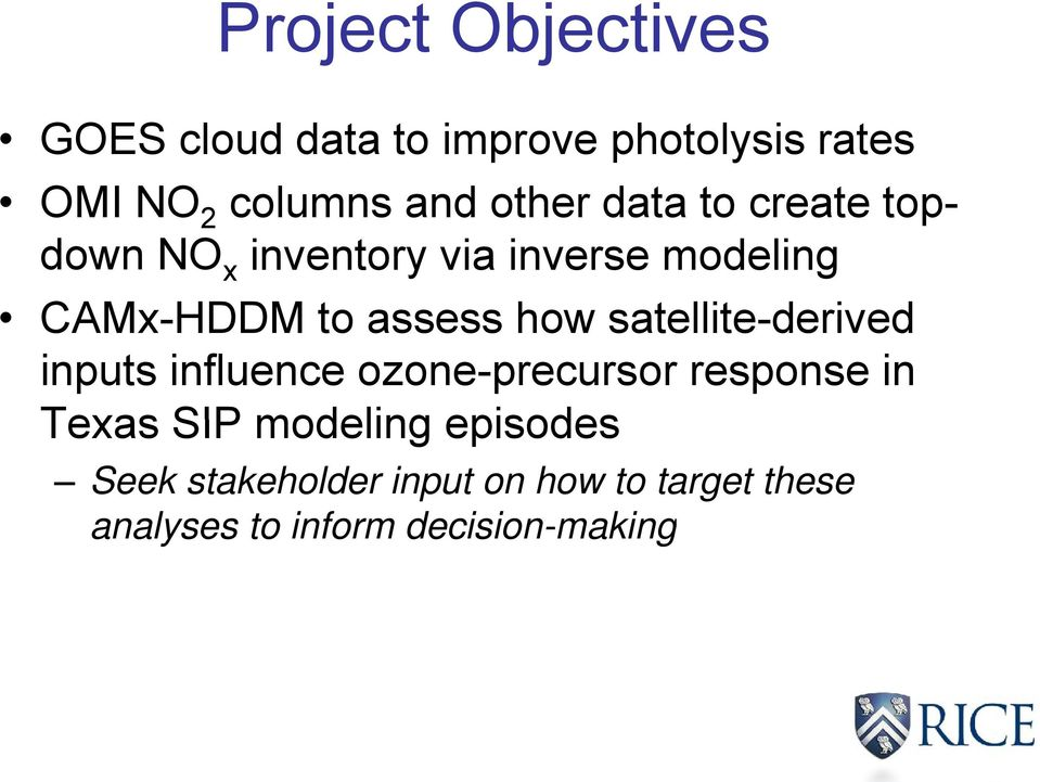 how satellite-derived inputs influence ozone-precursor response in Texas SIP modeling