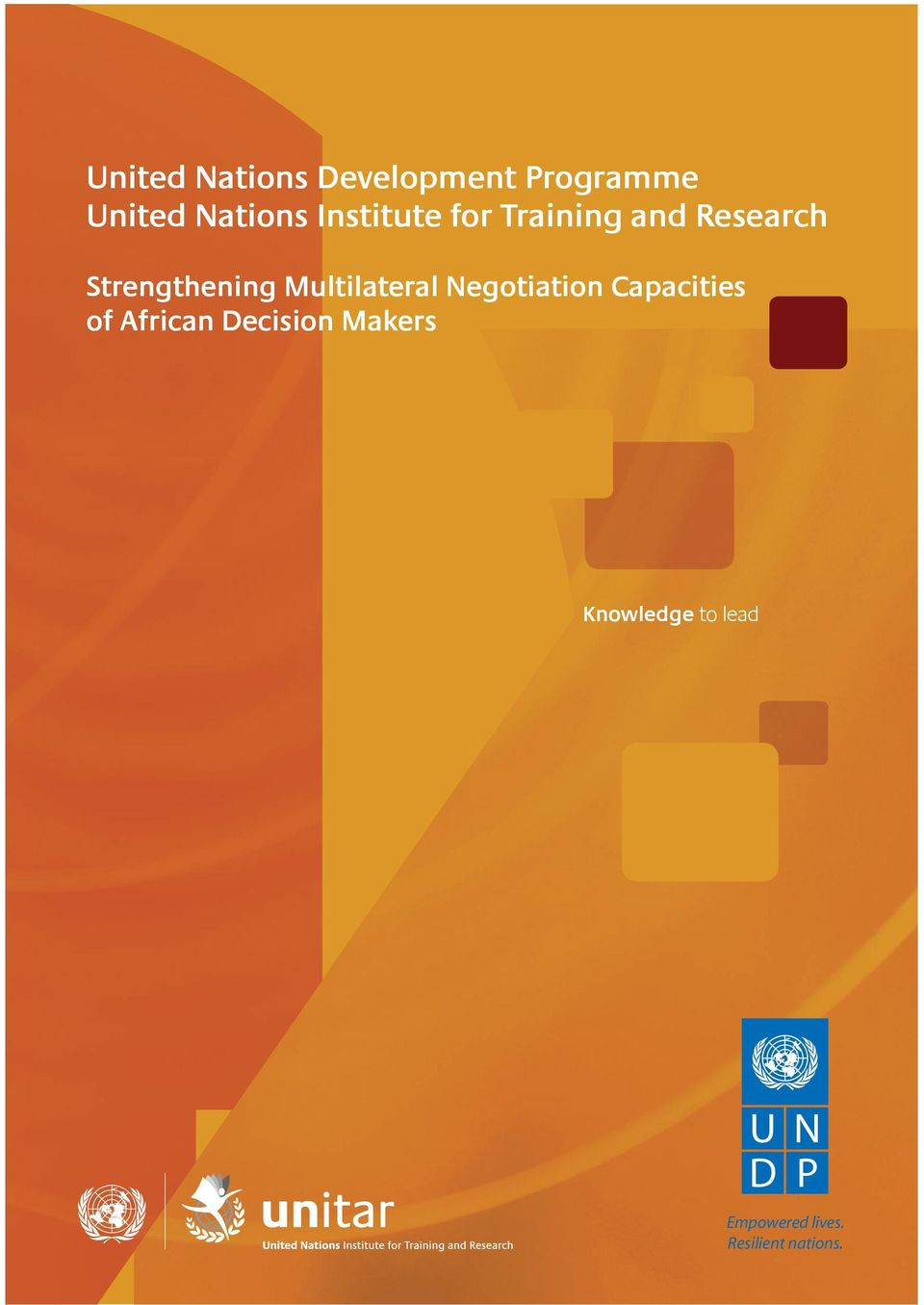 capacity building initiatives for African officials in the context of the four key priority areas of the UNDP s Third Regional Cooperation Framework (RCF III).