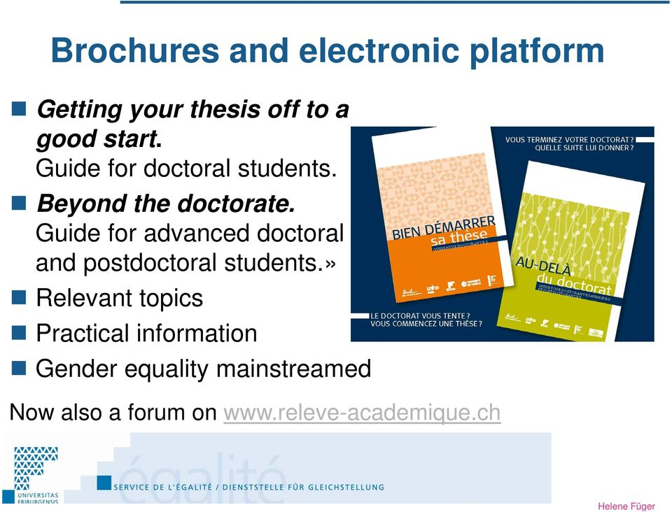 Guide for advanced doctoral and postdoctoral students.