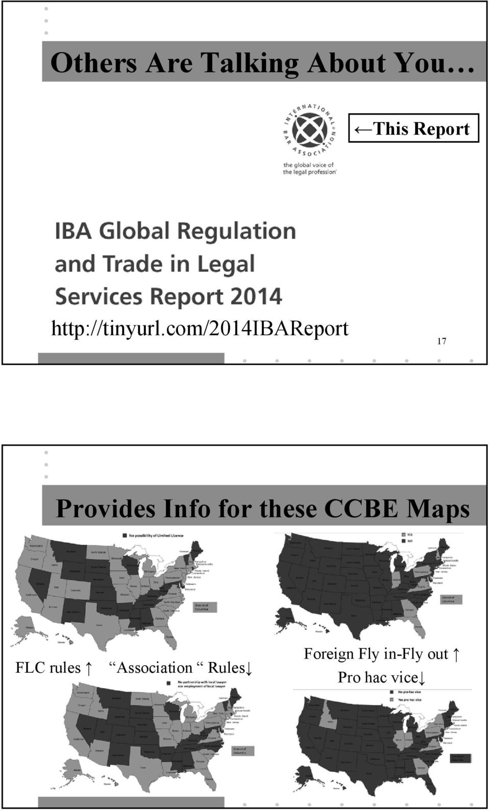 com/2014ibareport 17 Provides Info for these