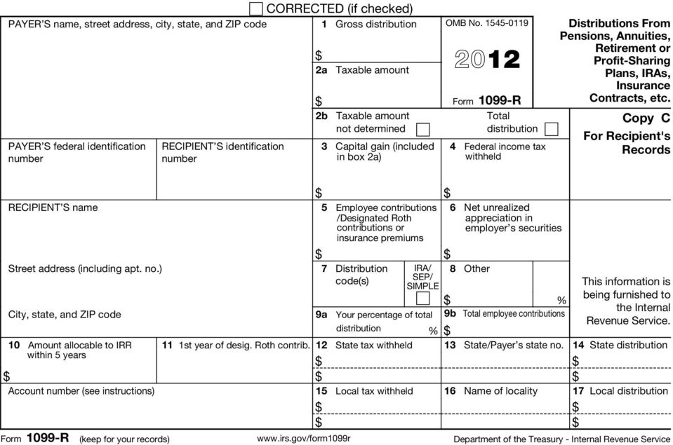 gov/form1099r This information is being furnished to the