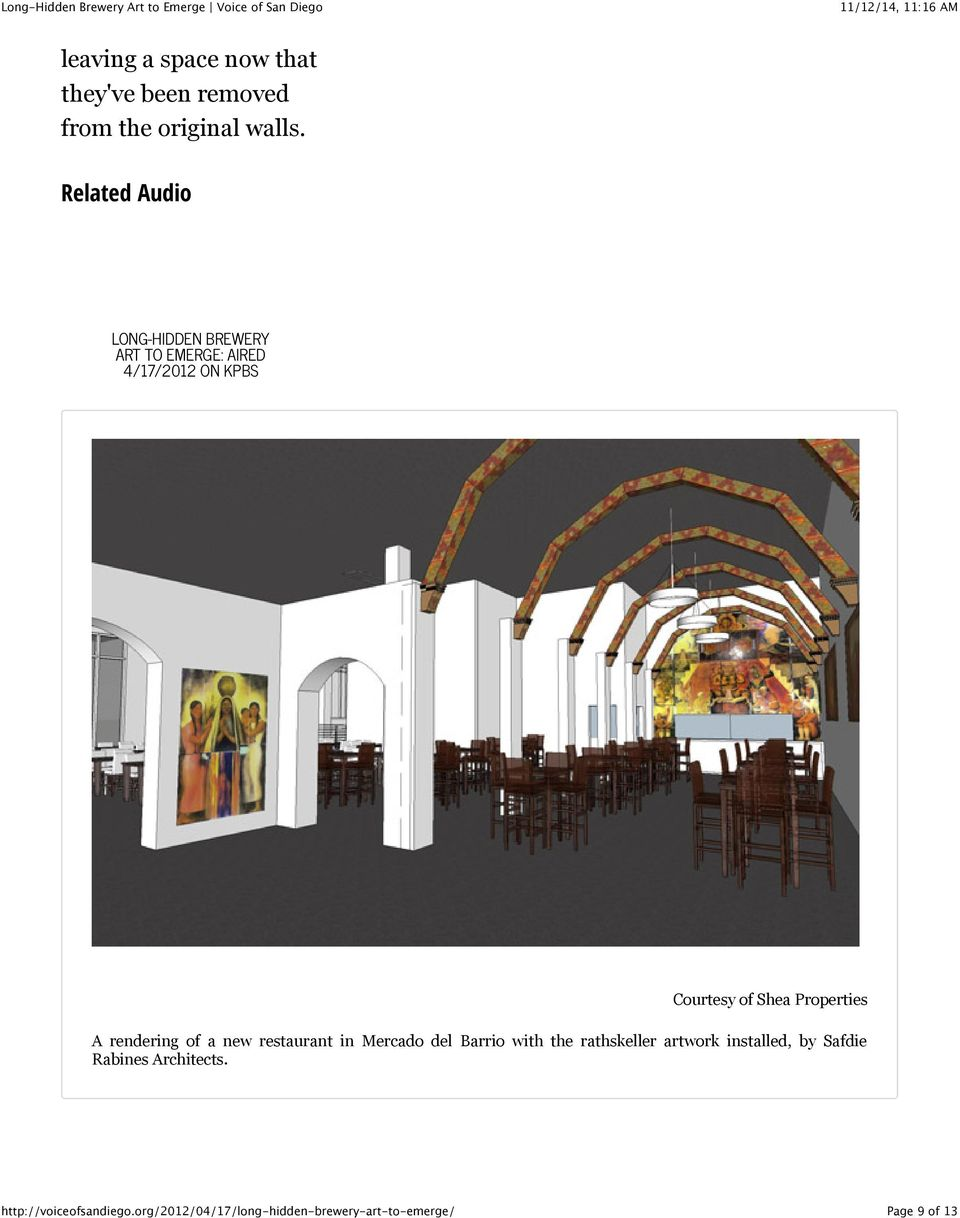 Courtesy of Shea Properties A rendering of a new restaurant in Mercado del