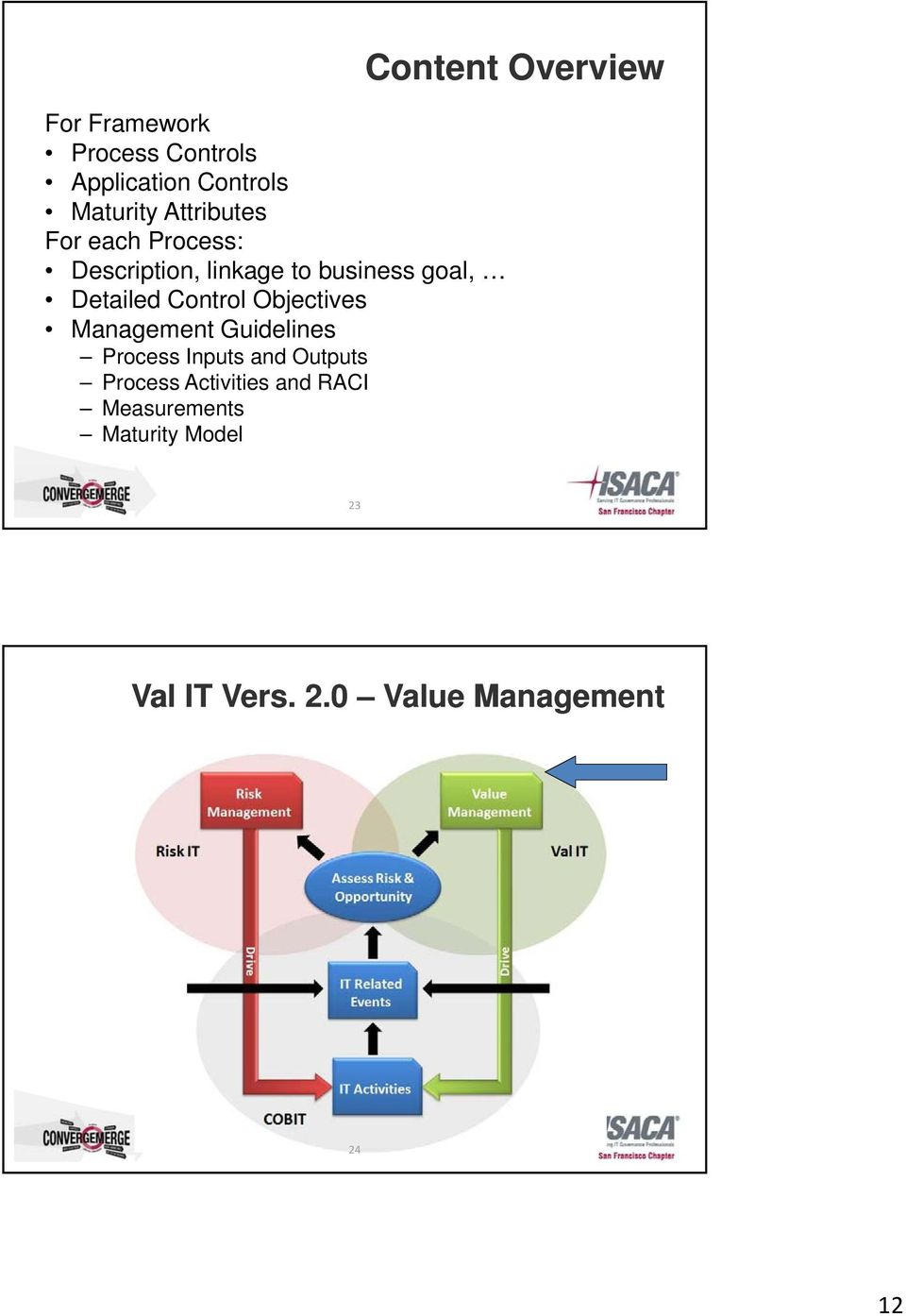 Management Guidelines Process Inputs and Outputs Process Activities and RACI