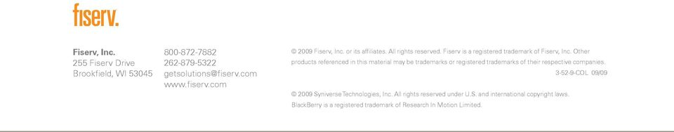 Other products referenced in this material may be trademarks or registered trademarks of their respective companies.