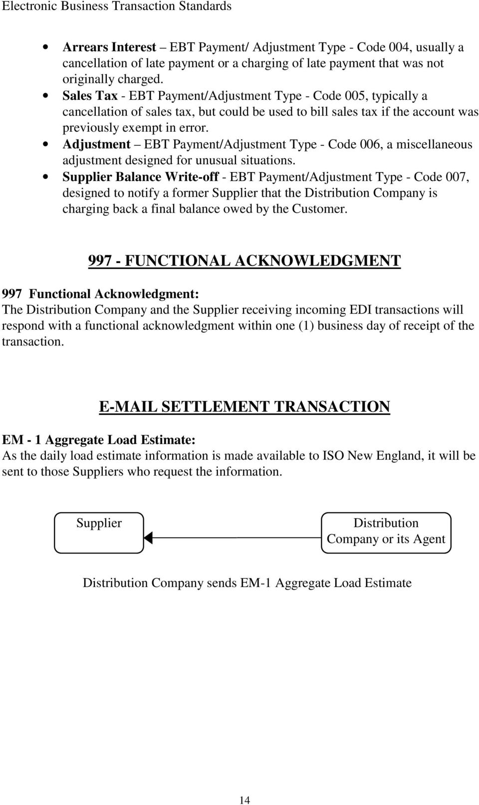 Adjustment EBT Payment/Adjustment Type - Code 006, a miscellaneous adjustment designed for unusual situations.