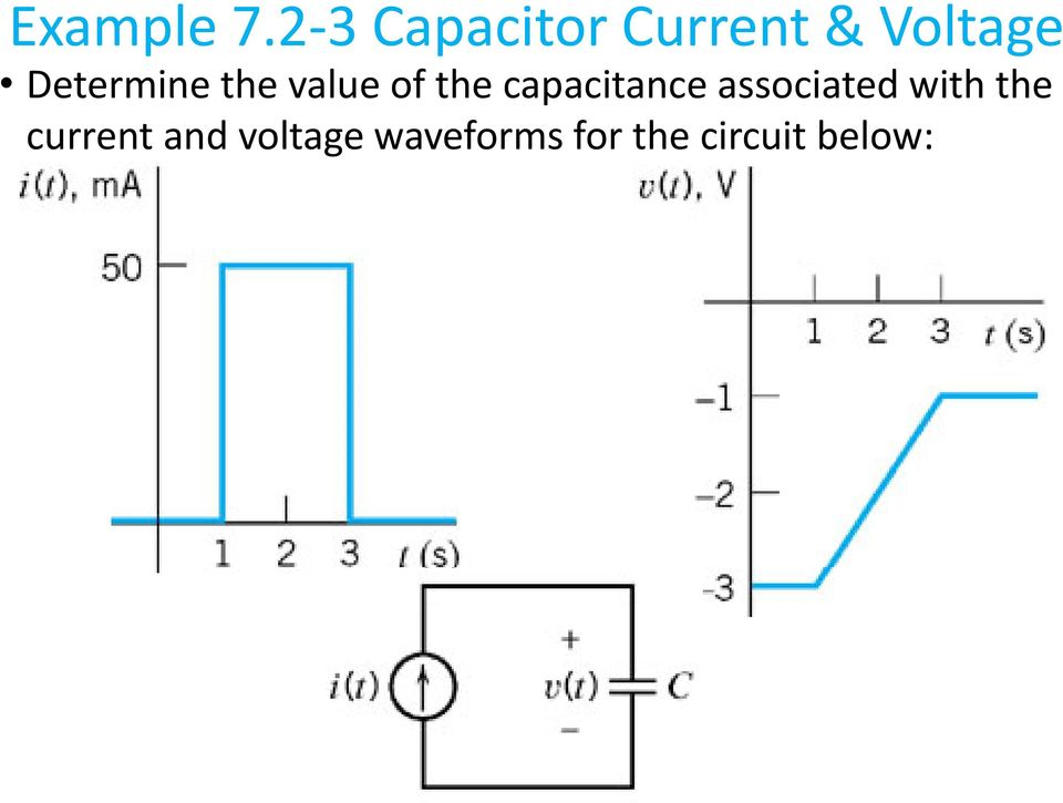 2 3 Capacitor Current & Voltage  with the current