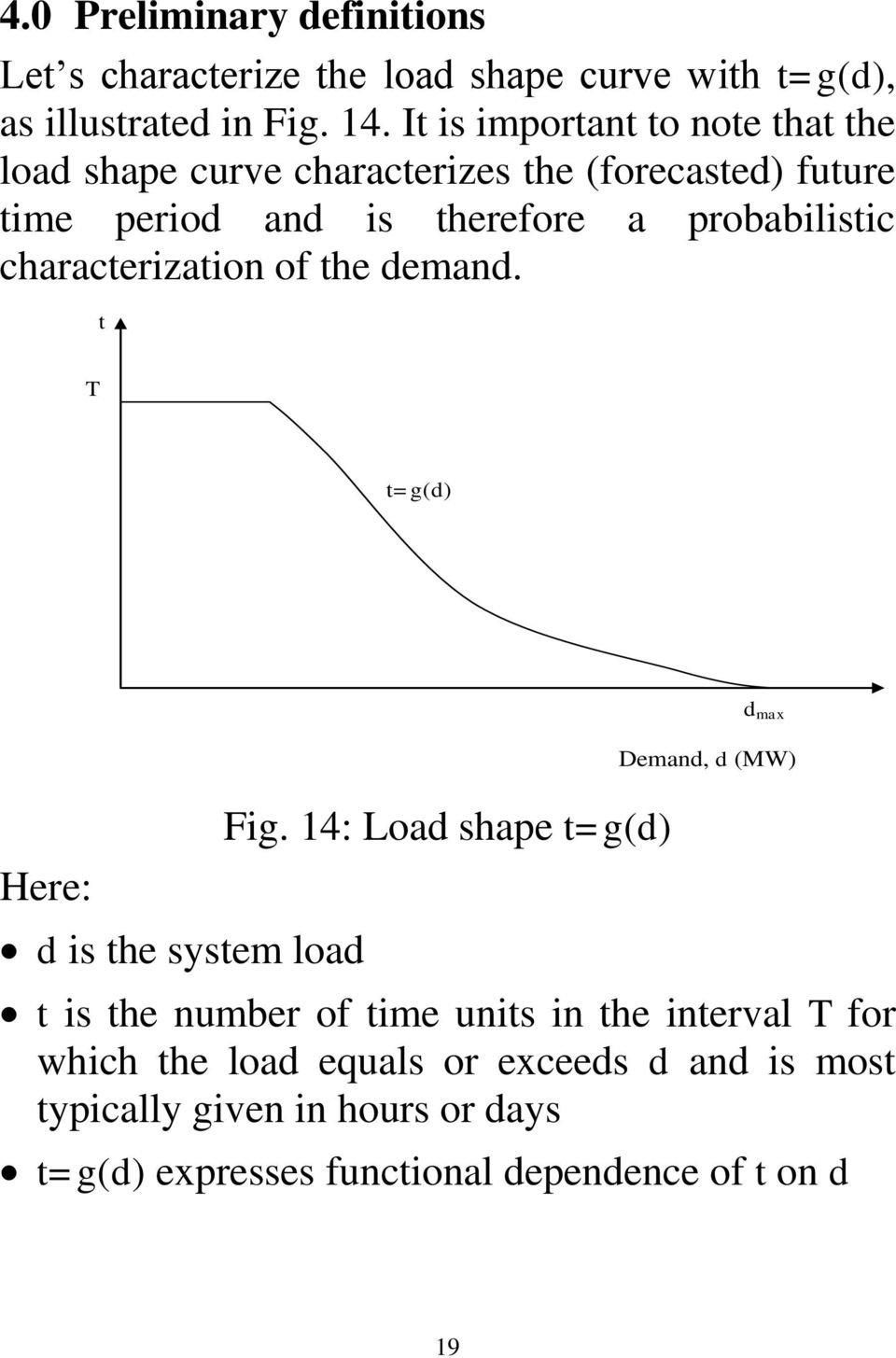 charactrization of th dmand. t T t=g(d) d max Hr: d is th systm load Fig.