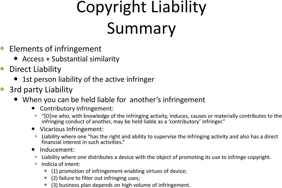 liable as a contributory infringer.