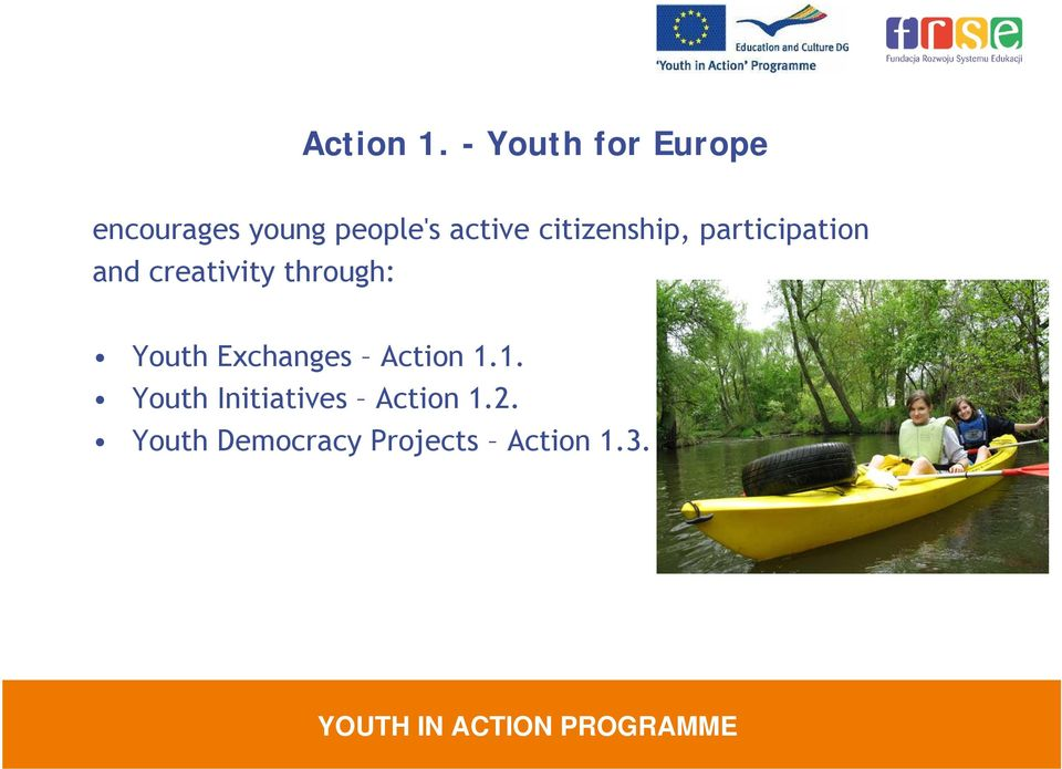citizenship, participation and creativity through: