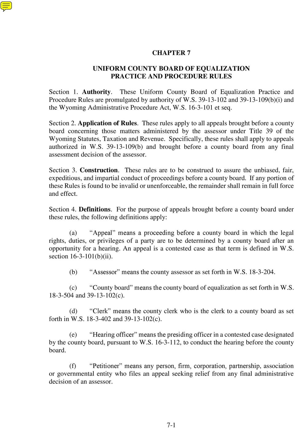 Section 2. Application of Rules.
