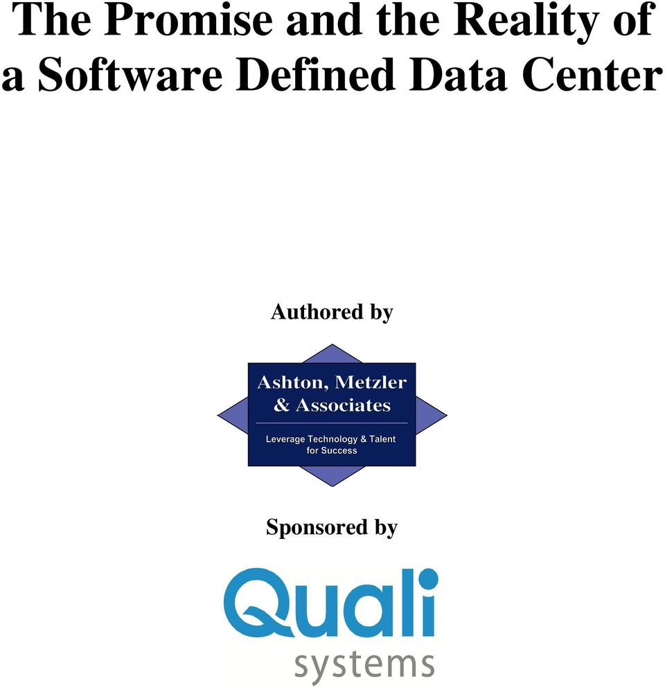 Defined Data Center