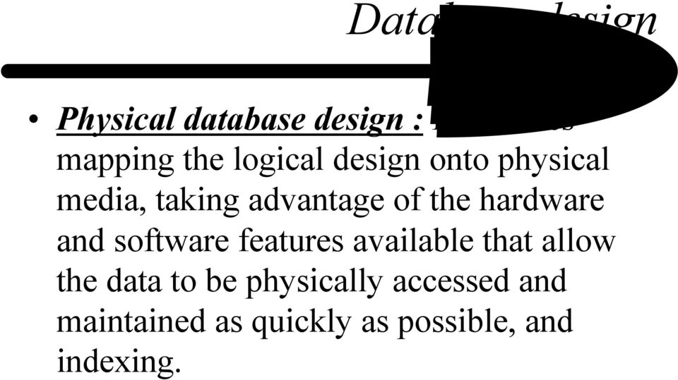 hardware and software features available that allow the data to be