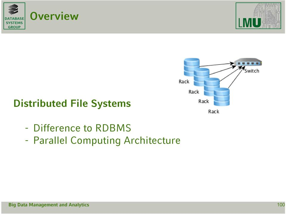 Difference to RDBMS -