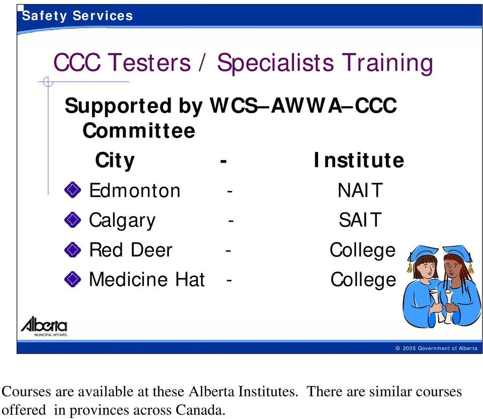 Medicine Hat - College 14-5/15/2009 Courses are available at these