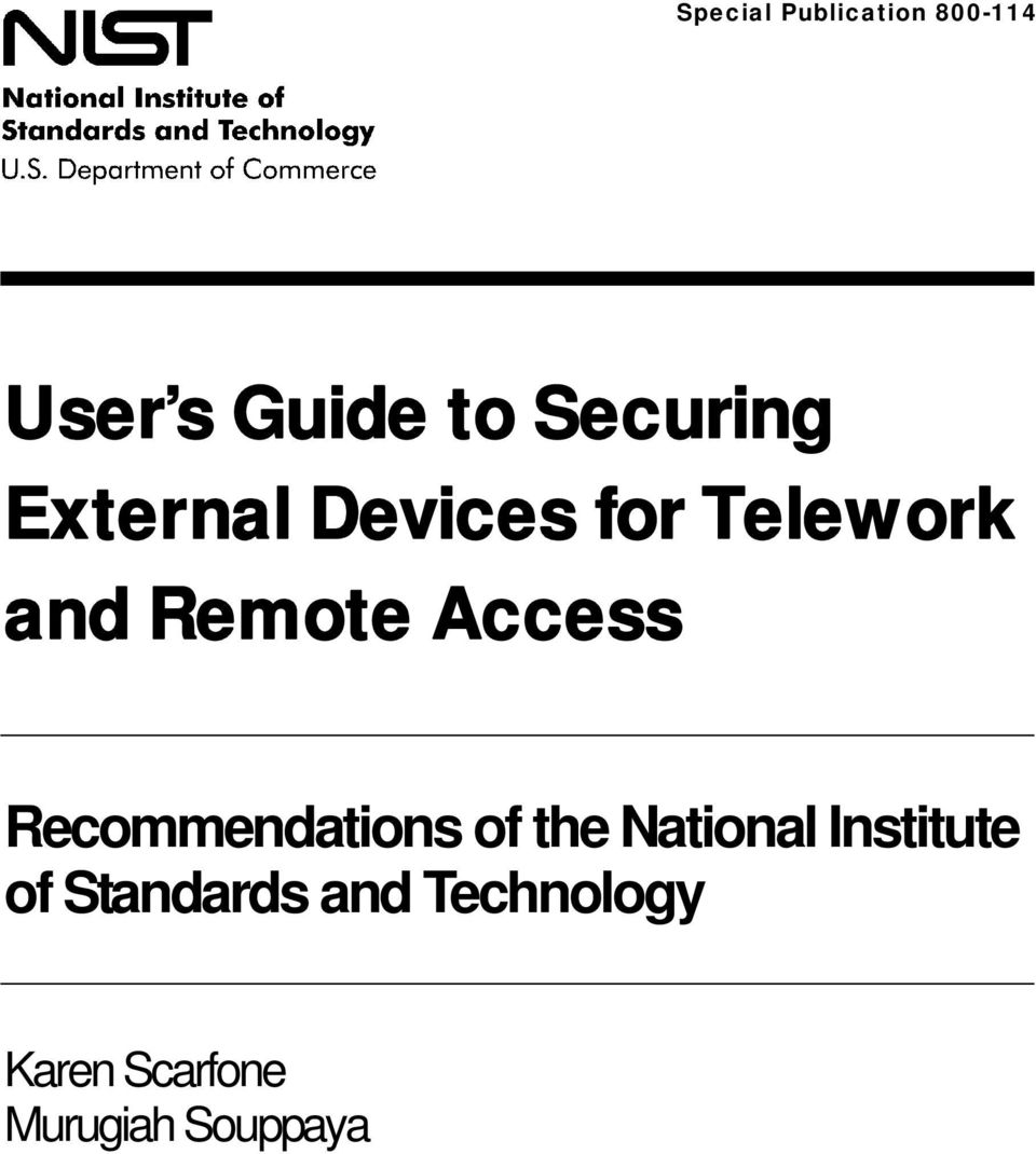 Access Recommendations of the National Institute
