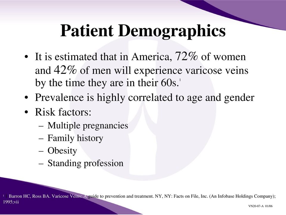 1 Prevalence is highly correlated to age and gender Risk factors: Multiple pregnancies Family history