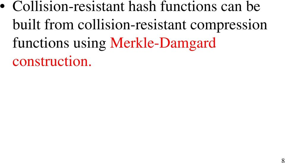 collision-resistant compression