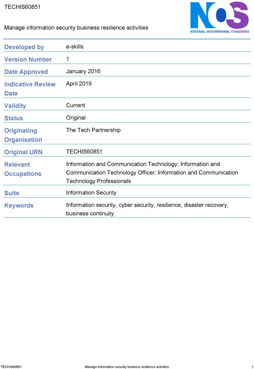 Information and Communication Technology; Information and Communication Technology Officer; Information and Communication