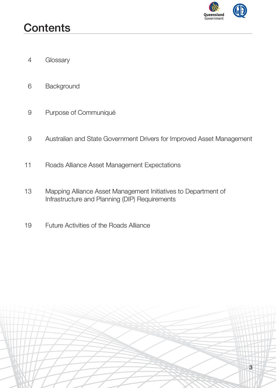 Expectations 13 Mapping Alliance Asset Management Initiatives to Department of