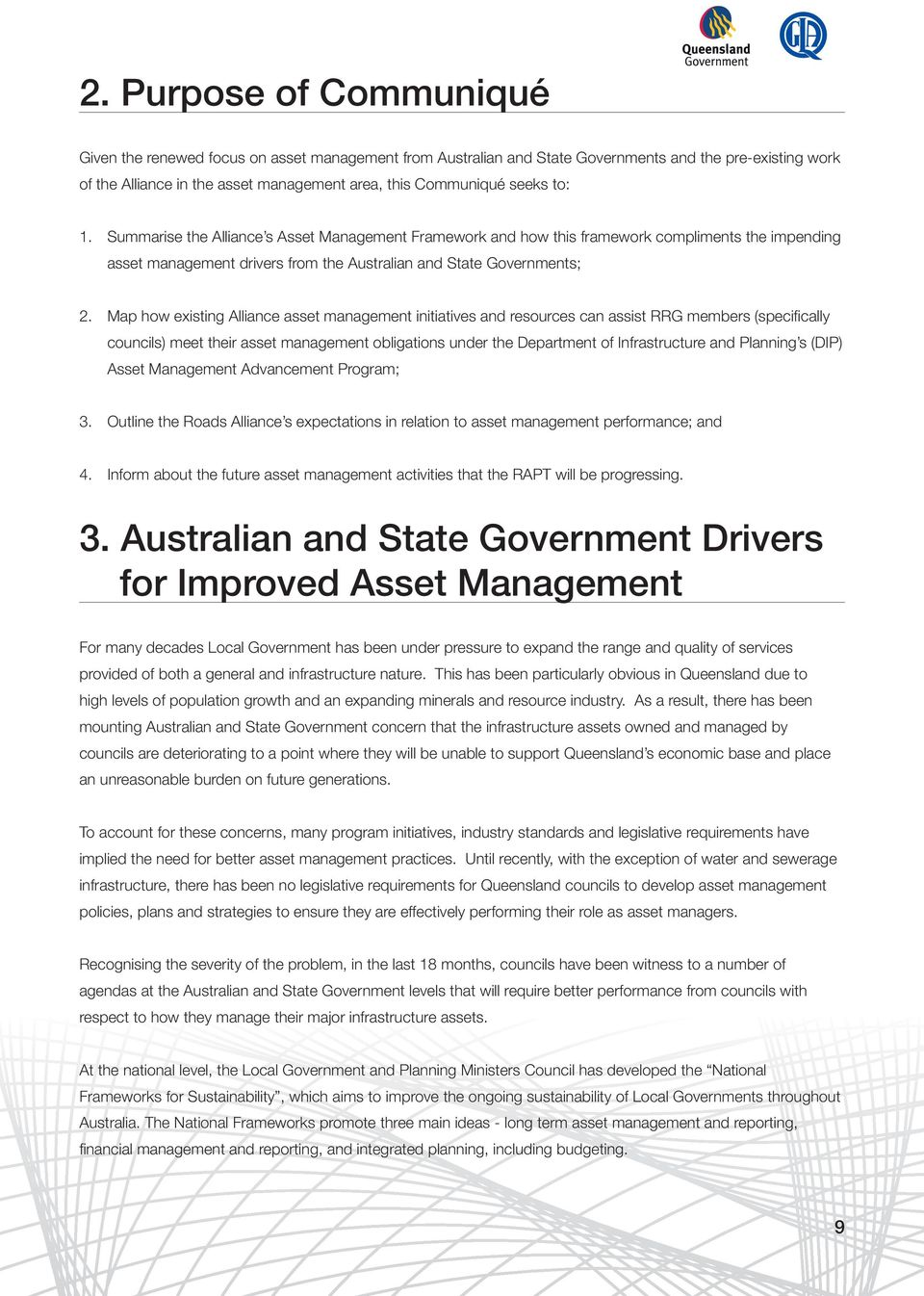 Map how existing Alliance asset management initiatives and resources can assist RRG members (specifically councils) meet their asset management obligations under the Department of Infrastructure and