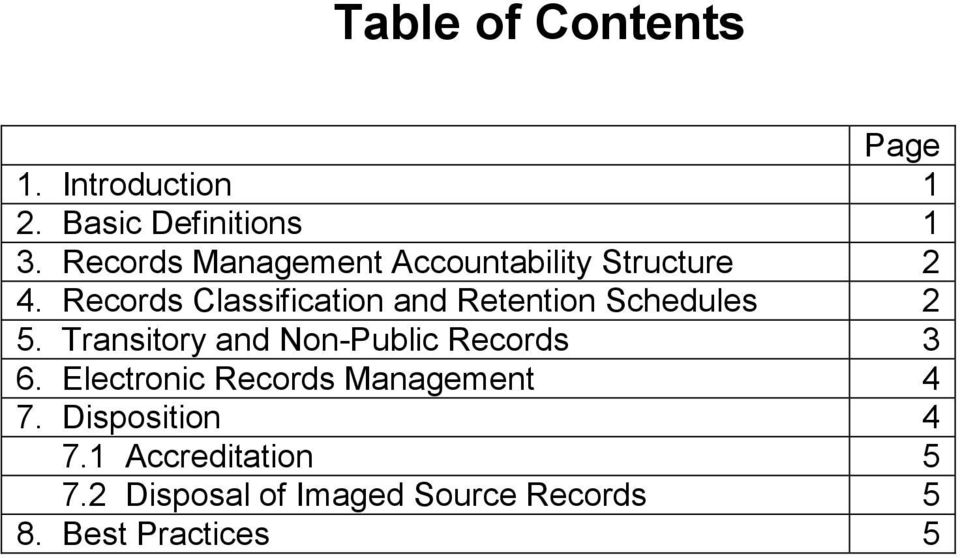 Records Classification and Retention Schedules 2 5.
