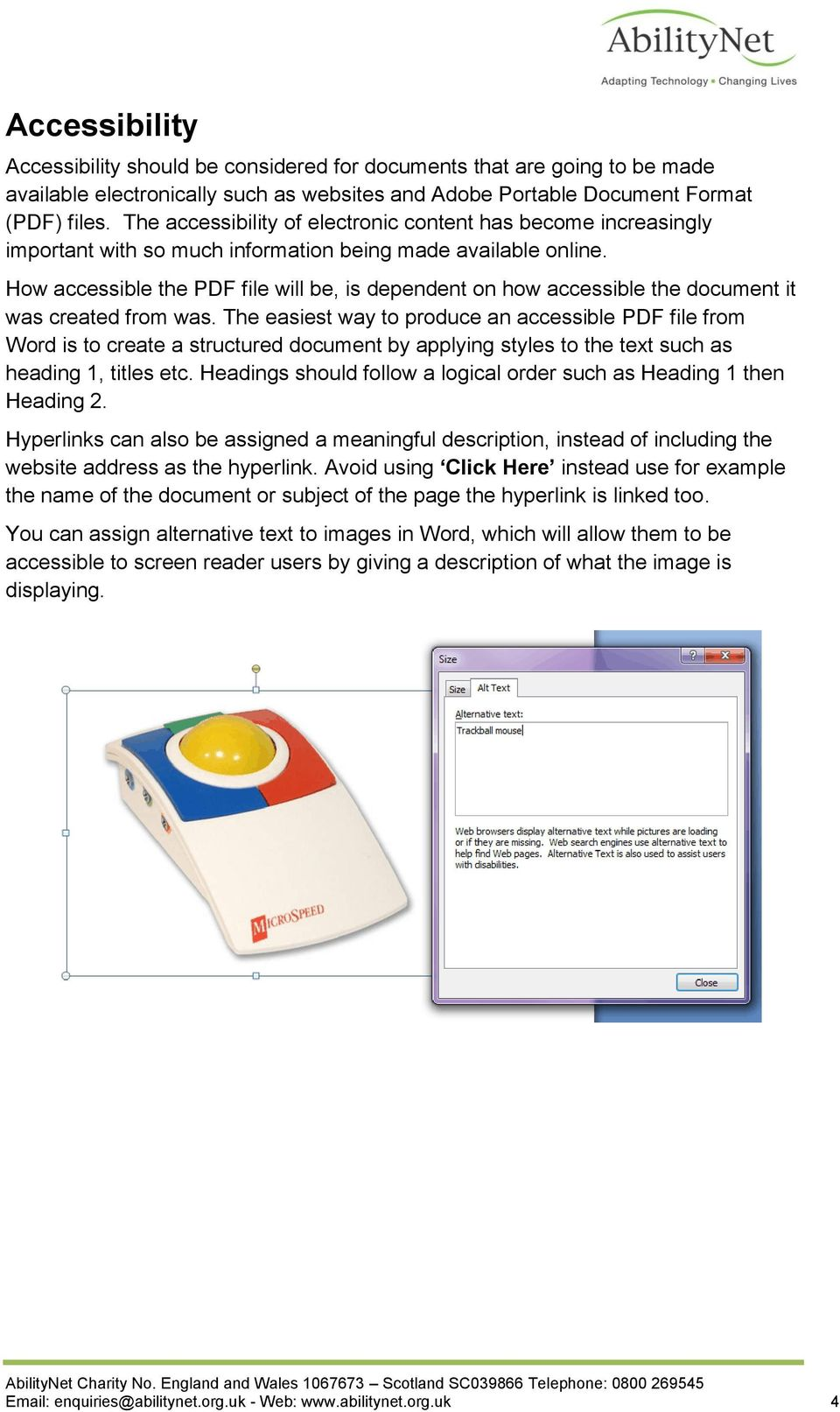 How accessible the PDF file will be, is dependent on how accessible the document it was created from was.