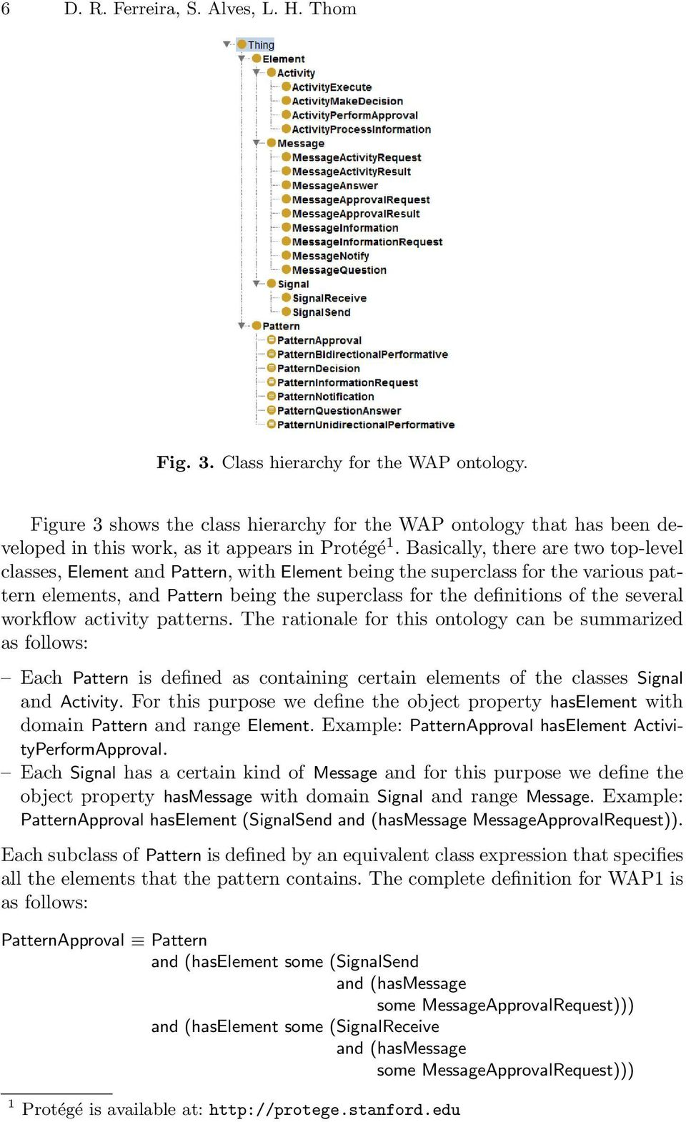 Basically, there are two top-level classes, Element and Pattern, with Element being the superclass for the various pattern elements, and Pattern being the superclass for the definitions of the