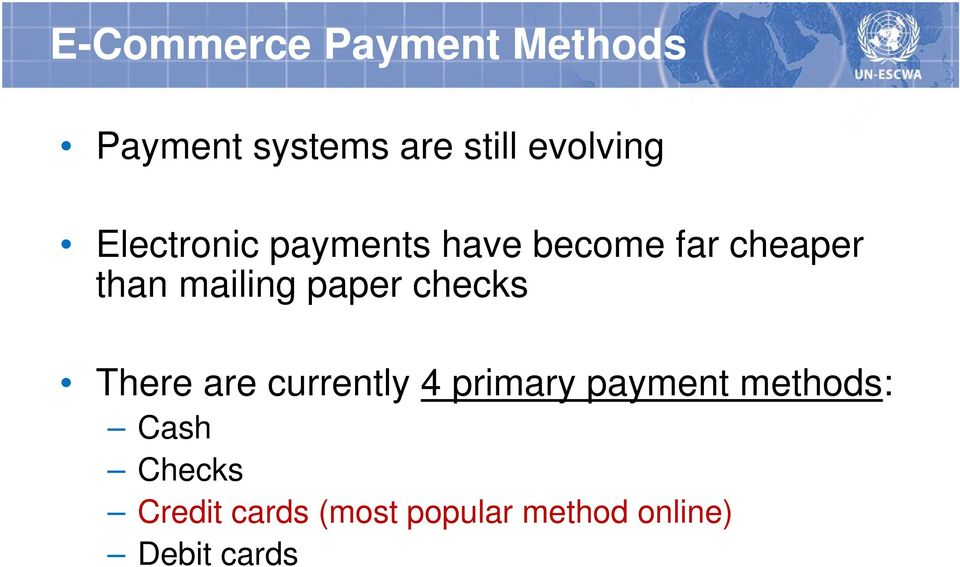 mailing paper checks There are currently 4 primary payment